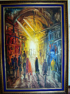 ORIGINAL ONE OF A KIND SIGNED OIL PAINTING BY ARTIST N RAZAVI