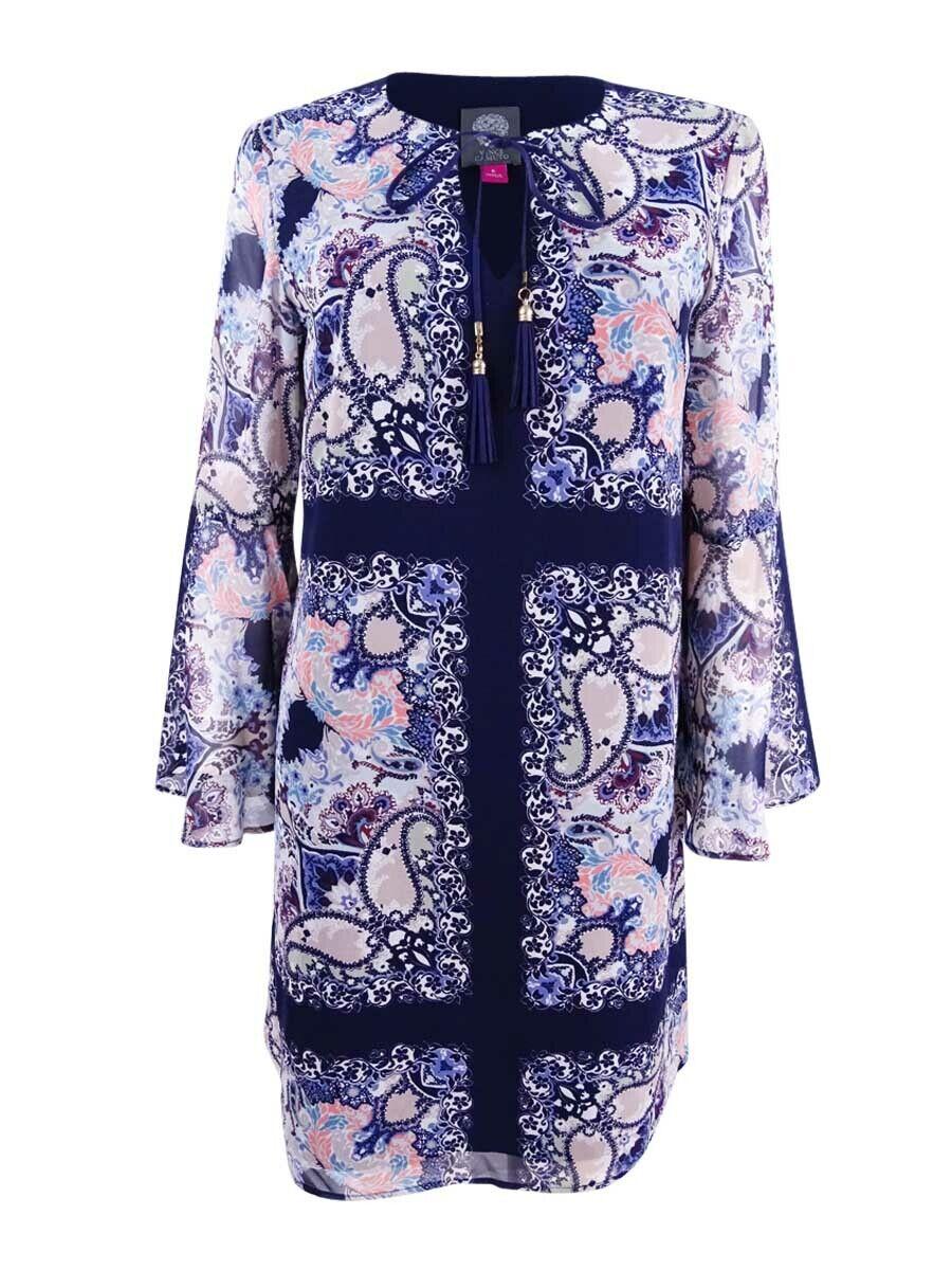 Vince Camuto Women's Paisley-Print Bell-Sleeve Shift Dress