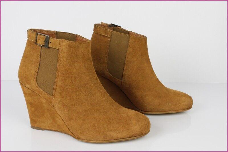 Bottines Boots MINELLI Daim Camel T 41 TBE