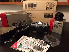 Updated CANON 35mm Film Camera AE-1 With 50 Lens And Original Boxes & Manuals