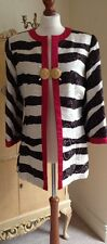 Authentic CHRISTIAN DIOR Boutique Abito Cappotto Giacca FR36 UK8 Made in France