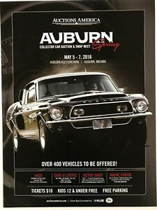 Auctions America 2016 Collector Car Auction Poster Auburn