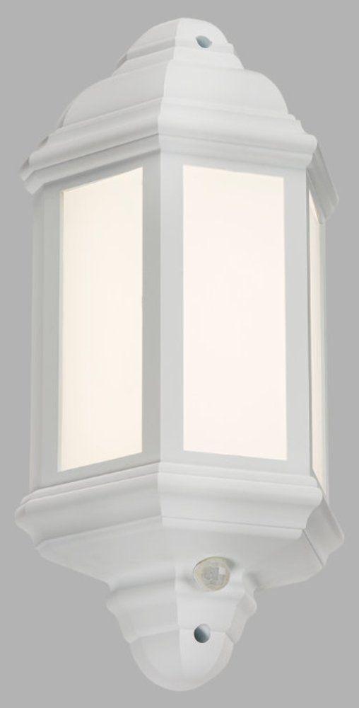 LED LANT4W Weiß Halb Wand Laterne IP54 mit Pir Sensor Außen Lampe 4000k