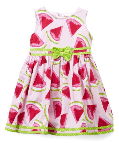 NWT Nannette Watermelon Girls Pink Sleeveless Dress 12 M 4T