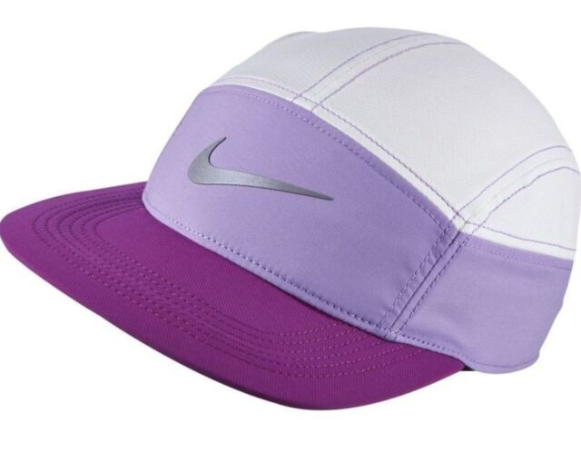 a5086836806 promo code womens ladies purple white nike dri fit running sports cap hat  with zip bnwt
