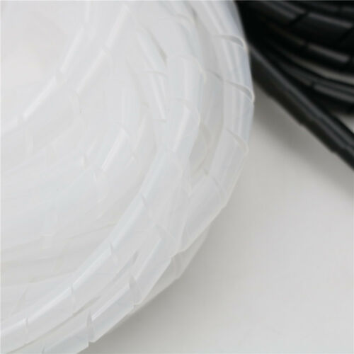 8M//25ft 8mm Wire Spiral Wrap Sleeving Band Tube Cable Wire Protector TS