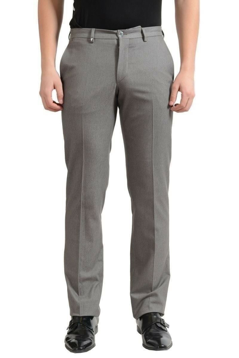Versace Collection Uomo Grigio Pantaloni Casual USA 32 It 48