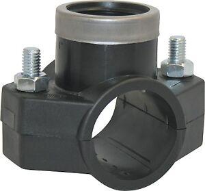 PE-Anbohrschelle mit Abgang Innengewinde 25 - 50 mm für ...