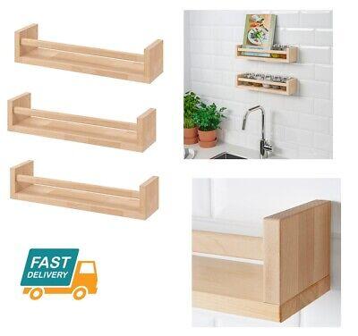Ikea En Bois Bocal à épices Rack Support De Rangement Cuisine Murale étagère étagères Organisateur Ebay