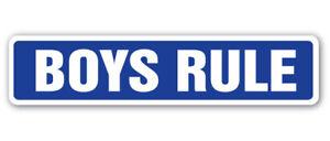 BOYS-RULE-Street-Sign-kids-boys-boy-men-children-Indoor-Outdoor