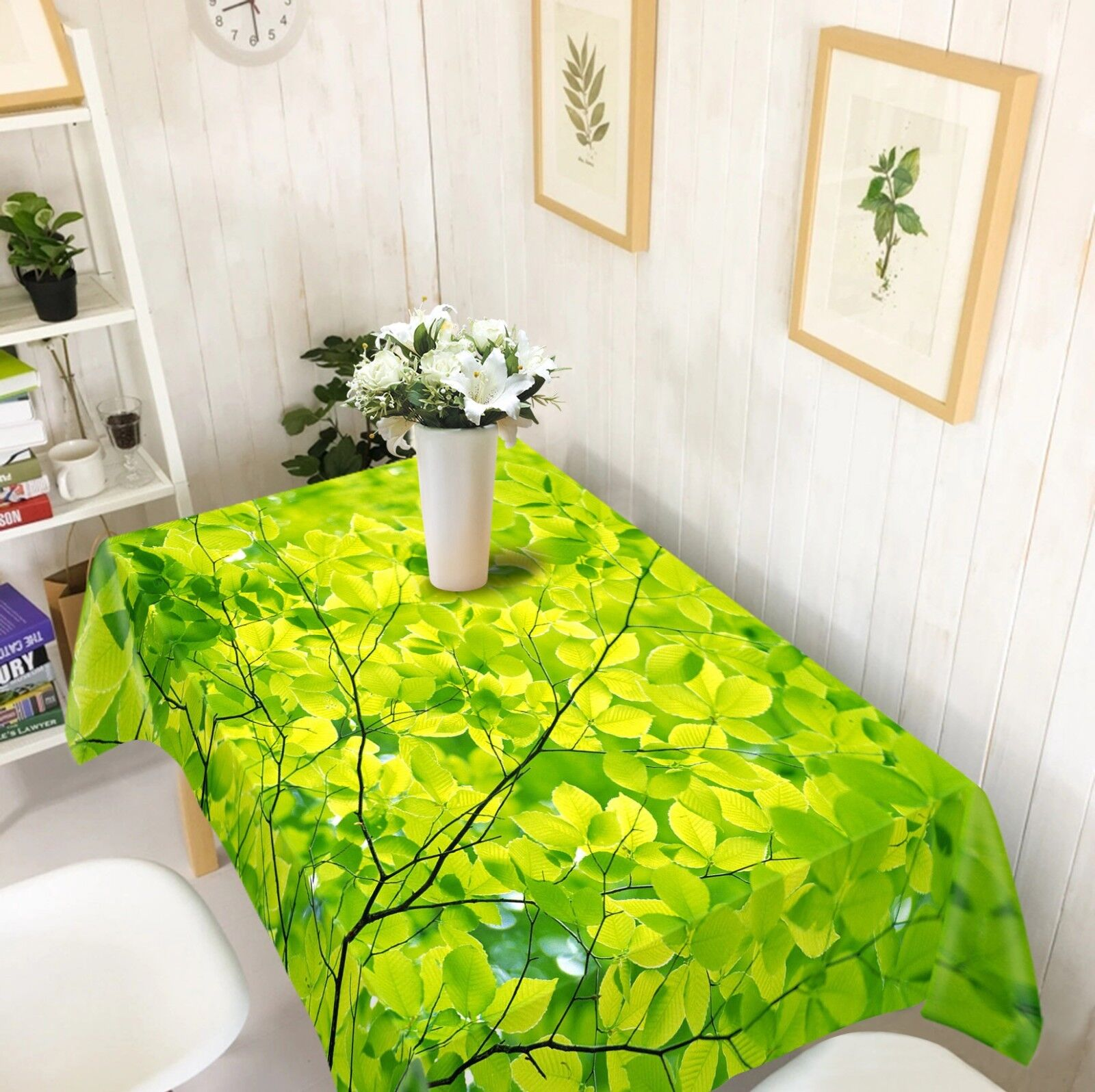 3D vert Leaf 04 Tablecloth Table Cover Cloth Birthday Party Event AJ WALLPAPER