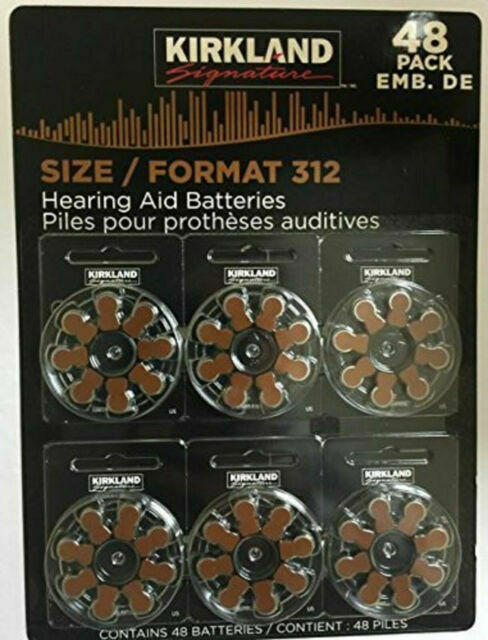 Kirkland Signature Hearing Aid Batteries Pack Of 48 Size 312 For Sale Online Ebay