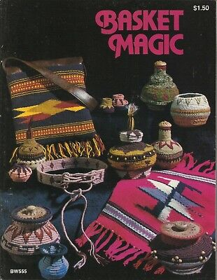 Basketry & Chair Caning Humor Basket Magic Vintage Basketry Pattern Instruction Book 1977