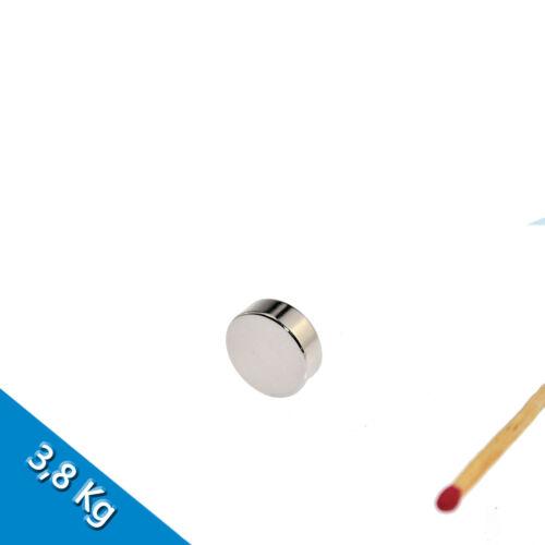 Nickel 5 NEODYM MAGNETE Ø15x5 mm NdFeB N45 Scheibenmagnete