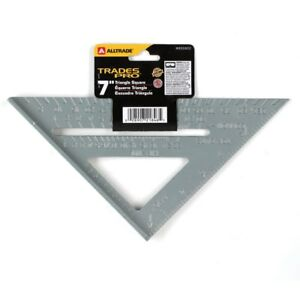 "Ensoleillé 7"" Combination Square Aluminum Triangle Carpenter's Protractor Miter Framing Diversifié Dans L'Emballage"