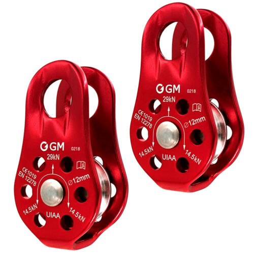 US STOCK 2 x 29kN Micro Pulley for General Purpose Use Climbing Rigging Arborist