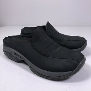 Merrell-Primo-Seam-Moc-Black-Oyster-Suede-Slip-On-Comfort-Shoes-Women-039-s-7-5