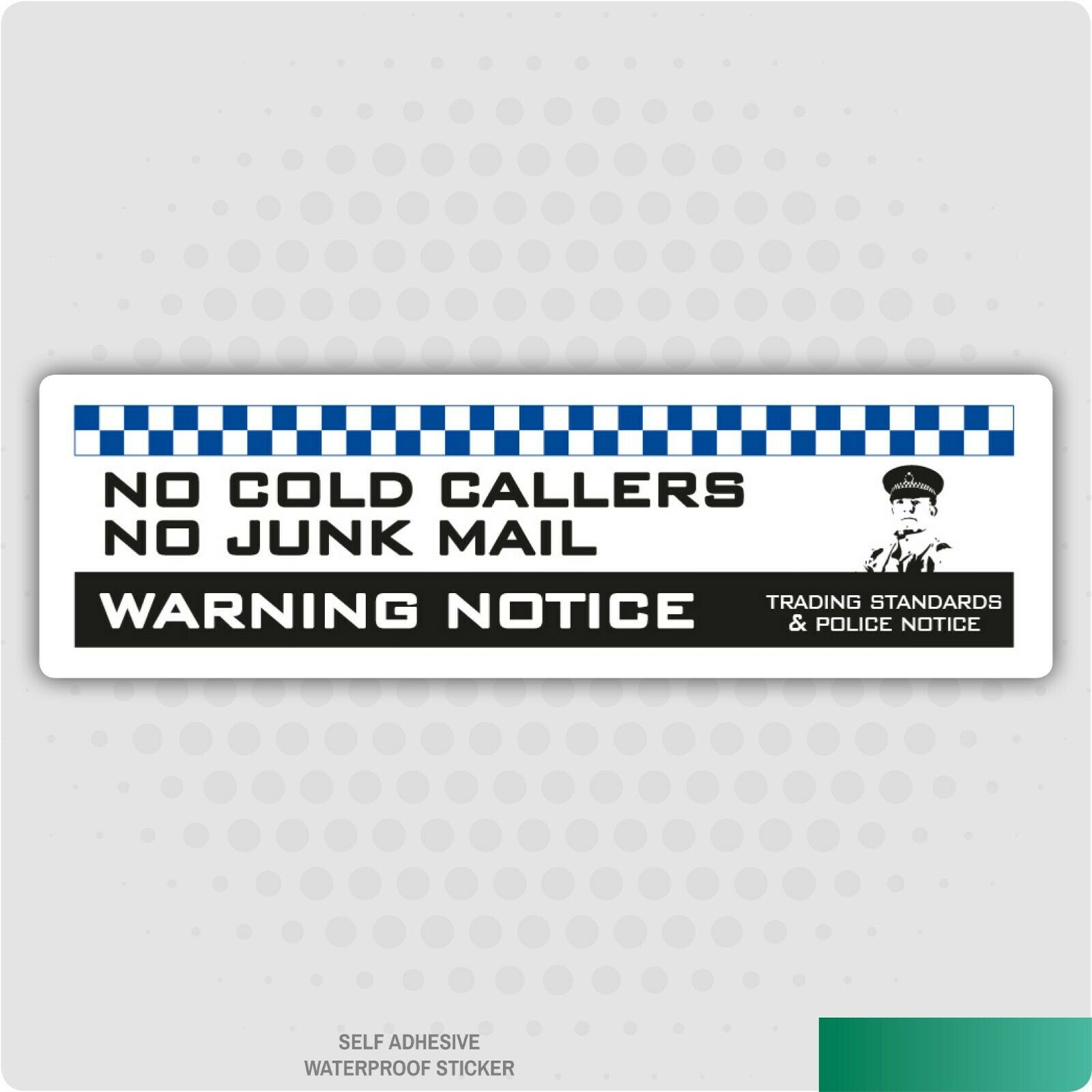 100 x 80 mm 2 x No Cold Callers Junk Mail or Leaflets Door Warning Sign Sticker