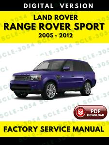 Land Rover Range Rover Sport 2005-2012 Factory Service Repair Workshop Manual