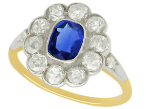 1890s-1-28-Ct-Sapphire-and-1-65-Ct-Diamond-14k-Yellow-Gold-Ring-Size-10