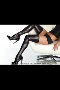WET-LOOK-VINYL-THIGH-HIGH-STOCKINGS-O-S-QUEEN