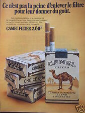 PUBLICITÉ 1971 CIGARETTE CAMEL FILTER KING-SIZE - ADVERTISING