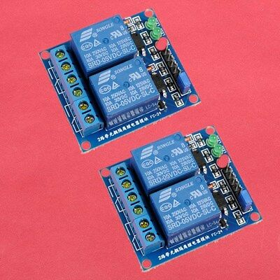 2pcs 5V 2-Channel Relay Module with Optocoupler Low Level Triger for Arduino