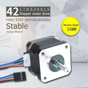 NEMA17-17HS3401S-1-5-A-38-mm-4-adriger-42-adriger-Schrittmotor-fuer-3D-Drucker