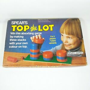 Retro-TOP-THE-LOT-Vintage-Spears-Stacking-Game-Complete-80s-7-2-Players