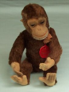 Vintage-Schuco-Tricky-Monkey-Mohair-Yes-No-Character-Toy-Germany