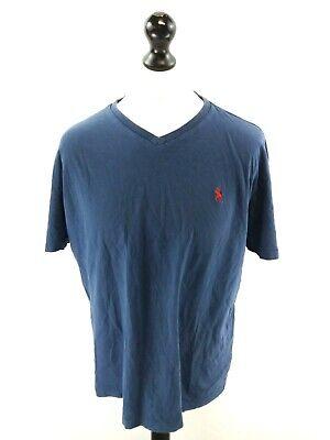 Ingegnoso Ralph Lauren Uomo T-shirt Top L Large Blu Cotone- Sangue Nutriente E Regolazione Dello Spirito
