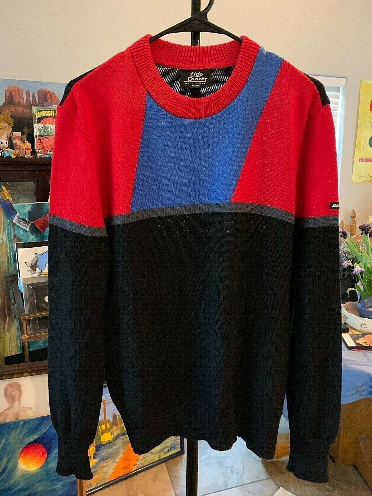 Men's S M Vintage Lido Sweater Really Nice