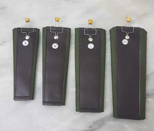 Falconry Tail Guard Cordura Fabric Green Color Attached Wire and free Tail Pin