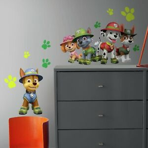 JUNGLE-PAW-PATROL-GiAnT-WALL-DECALS-Dogs-Puppies-Room-Decor-Stickers-Ryder-Chase