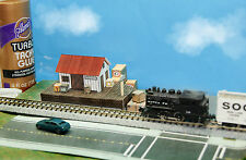 Tiny Freight Station N Scale Building DIY Paper Cutout Kit