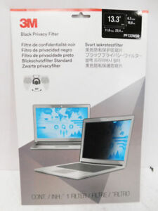 "3M Blackout Frameless Privacy Filter for 13.3/"" Widescreen Notebook 16:9 PF133W9B"