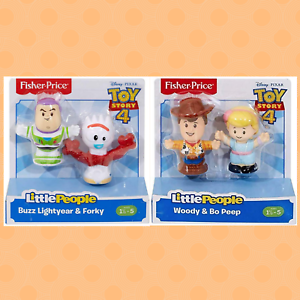 Fisher Price Little People Toy Story 4 BUZZ LIGHTYEAR, FORKY, WOODY, BO PEEP Lot