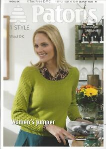 Details about VAT Free KNITTING PATTERN ONLY Patons DK Ladies Jumper  Sweater 4026 New