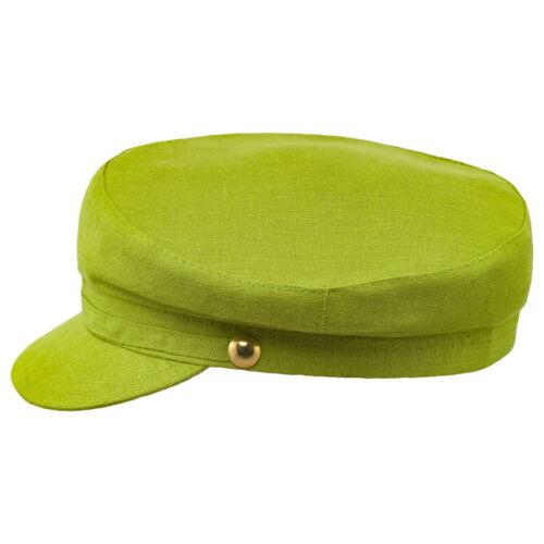 Sterkowski Pireus Linen Summer Fisherman CAP BRETON grec Sailor Mariner Hat