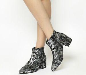 dbb50bf8a9 Details about Womens Vagabond Mya Boots Black Silver Boots