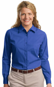 Port-Authority-Women-039-s-Easy-Care-Long-Sleeve-Button-Front-Dress-Shirt-L607