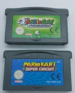 Mario KART & Mario Golf-Nintendo GBA-CART