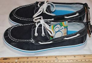Op-Boys-Youth-Size-3-Casual-Canvas-Loafers-Washed-Looked-Denium-Blue-Item-2