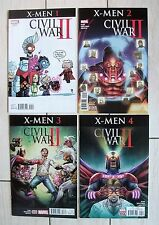 CIVIL WAR II: X-MEN #'s 1-4 (Marvel Comics, FULL SET, VARIANT, 2016), NM NEW