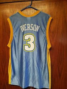 newest collection 389a4 5ef72 Details about Vintage Denver Nuggets Allen Iverson Jersey&T Shirt Lot