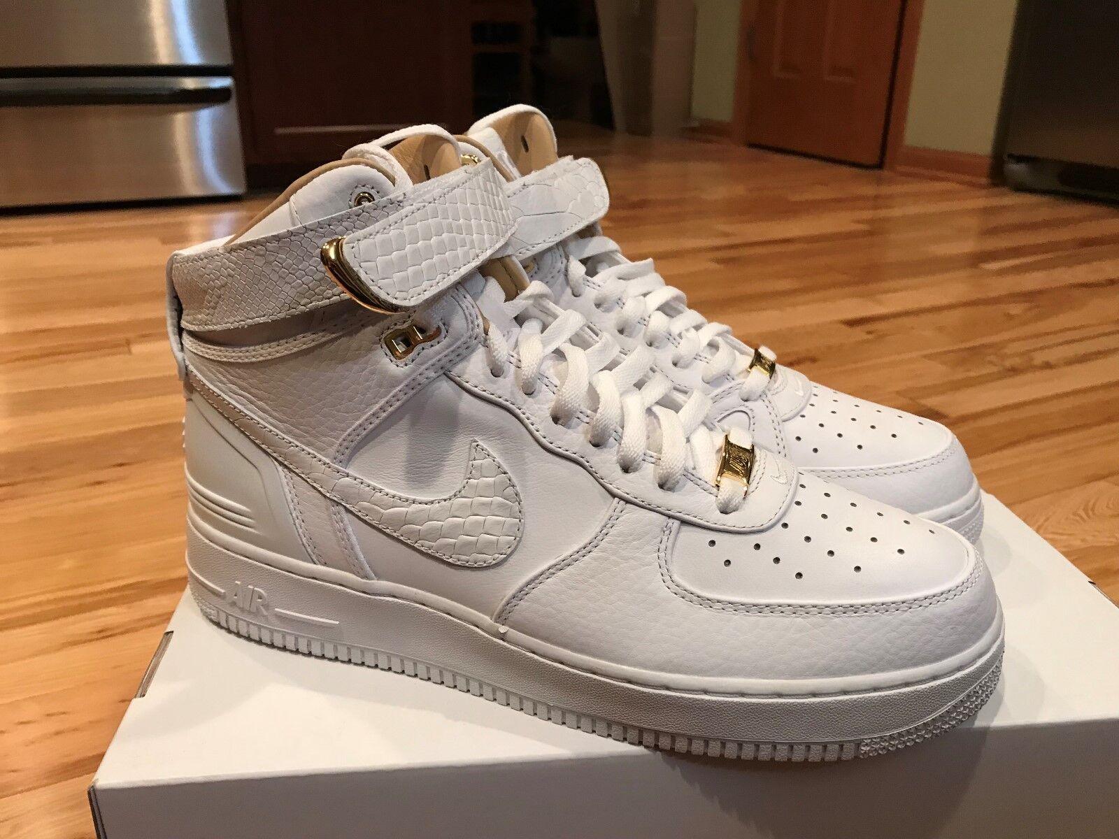 Nike Air Force 1 Hi Just Don White Gold AO1074-100 Men's Size 10.5 NOBOXTOP