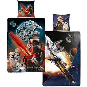 Details zu Biber Kinder-Bettwäsche Lego Star Wars Millennium 135x200+80x80  Wendebettwäsche
