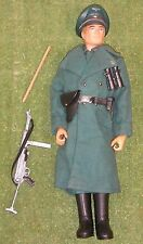 ORIGINAL VINTAGE ACTION MAN LOOSE GERMAN CAMP KOMMANDANT FLOCKED HAIR 107