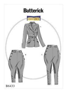 Butterick-Sewing-Pattern-B6433-Jodphurs-Jacket-amp-Breeches-6-14