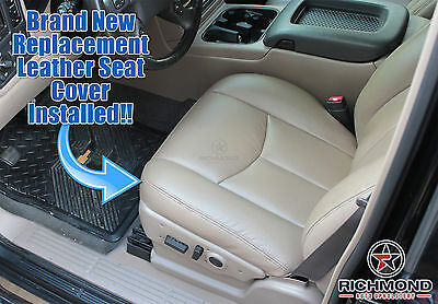 2003-2007 Chevy Silverado Driver Side Bottom Replacement Leather Seat Cover Tan